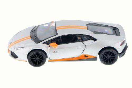 Lamborghini Huracan LP610-4 Avio, Silver - Kinsmart 5401D - 1/36 Scale Diecast Model Toy Car