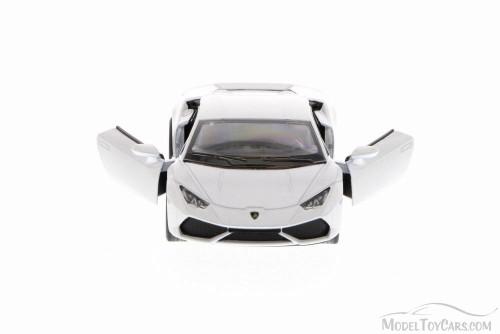 Lamborghini Huracan LP610-4, White - Kinsmart 5382D - 1/36 Scale Diecast Model Toy Car