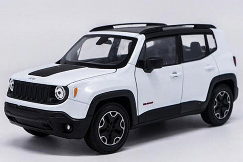Jeep Renegade Trailhawk, White - Welly 24071WWT - 1/24 scale Diecast Model Toy Car