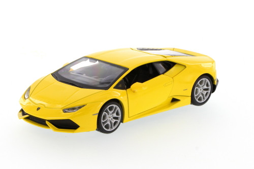 Lamborghini Huracan Hard Top, Yellow - Showcasts 34509 - 1/24 Scale Diecast Model Toy Car (Brand New, but NOT IN BOX)