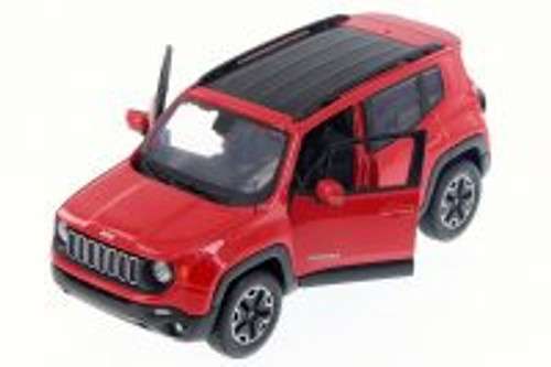 2017 Jeep Renegade SUV, Red - Maisto 34282 - 1/24 Scale Diecast Model Toy Car