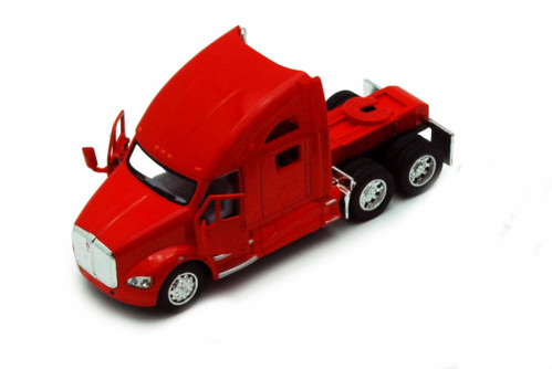 Kenworth T700 Tractor, Red - Kinsmart 5357D - 1/68 scale Diecast Model Toy Car (Brand New, but NOT IN BOX)