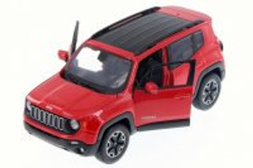 2017 Jeep Renegade SUV, Red - Maisto 31282R - 1/24 Scale Diecast Model Toy Car