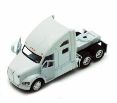 Kenworth T700 Tractor, White - Kinsmart 5357D - 1/68 scale Diecast Model Toy Car (Brand New, but NOT IN BOX)