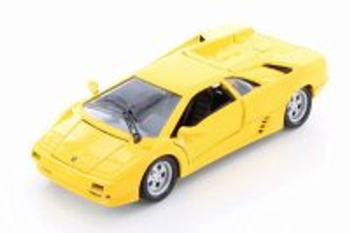 Lamborghini Diablo Hard Top, Yellow - Welly 29374WYL - 1/24 Scale Diecast Model Toy Car