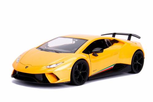 2017 Lamborghini Huracan Performante Hard Top, Yellow - Jada 99355WA1 - 1/24 Scale Diecast Model Toy Car