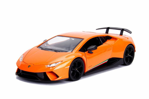 2017 Lamborghini Huracan Performante Hard Top, Orange - Jada 99996DP1 - 1/24 Scale Diecast Model Toy Car
