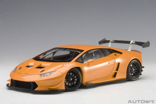 2015 Lamborghini Huracan Super Trofeo, Orange - AutoArt 81558 - 1/18 Scale Collectible Diecast Vehicle Replica