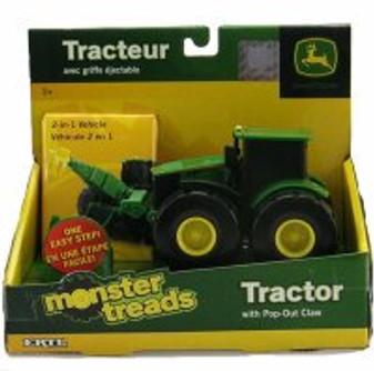John Deere Monster Treads 2 in 1 Tractor with Pop-Out Claw, Green - Tomy ERTL John Deere 37750A