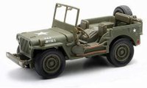 Jeep Willys US ARMY, Military Green - New Ray 54133 - 1/32 Scale Diecast Model Toy Car