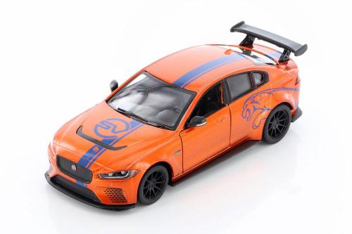 Jaguar Project 8 with Decals Hardtop, Orange - Kinsmart 5416DF - 1/38 scale Diecast Model Toy Car