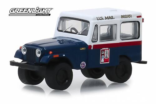 1974 Jeep DJ-5, United States Mail Civil Defense - Greenlight 30070/48 - 1/64 scale Diecast Model Toy Car