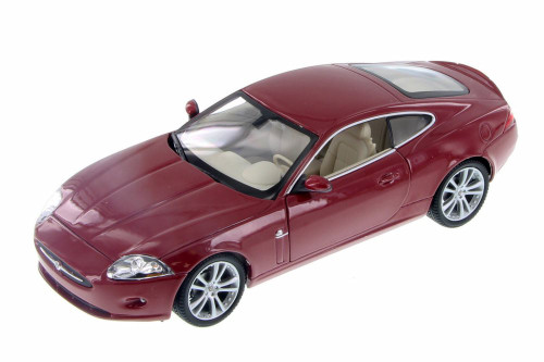 Jaguar XK, Red - Welly 22470WR - 1/24 Scale Diecast Model Toy Car