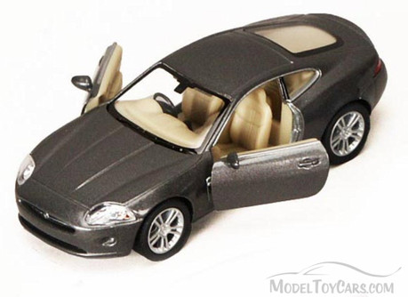 Jaguar XK Coupe, Gray - Kinsmart 5321D - 1/38 scale Diecast Model Toy Car (Brand New, but NOT IN BOX)