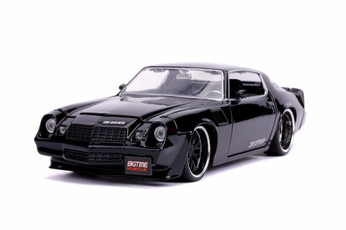 1979 Chevy Camaro Z28 Hardtop, Black - Jada 31584/4 - 1/24 scale Diecast Model Toy Car