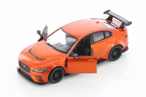 Jaguar XE SV Project 8 Hardtop, Orange - Kinsmart 5416D - 1/38 scale Diecast Model Toy Car