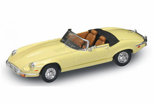 1971 Jaguar E-Type Convertible, Yellow - Road Signature 94244 - 1/43 Scale Diecast Model Toy Car