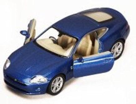 Jaguar XK Coupe, Blue - Kinsmart 5321D - 1/38 scale Diecast Model Toy Car (Brand New, but NOT IN BOX)