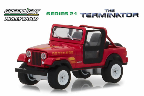 1983 Jeep CJ-7 Renegade, The Terminator - Greenlight 44810B/48 - 1/64 scale Diecast Model Toy Car