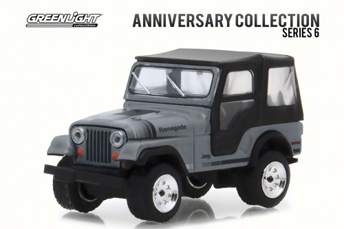 1979 Jeep CJ-5 Anniversary Edition, Gray - Greenlight 27940C/48 - 1/64 Scale Diecast Model Toy Car