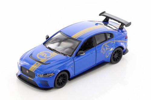Jaguar Project 8 with Decals Hardtop, Blue - Kinsmart 5416DF - 1/38 scale Diecast Model Toy Car