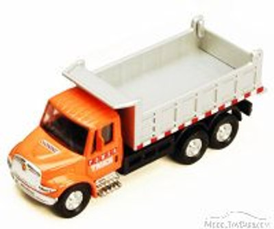 International Dump Truck, Orange - Showcasts 2113D - 5 Inch Scale Diecast Model Replica