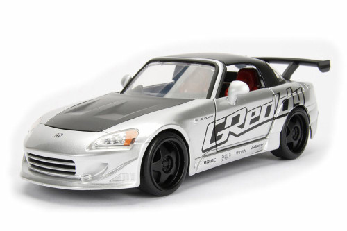 2001 Honda S2000 Hard Top, Silver - Jada 98559DP1 - 1/24 Scale Diecast Model Toy Car