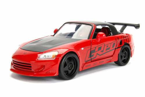 2001 Honda S2000 Hard Top, Red - Jada 98570WA1 - 1/24 Scale Diecast Model Toy Car