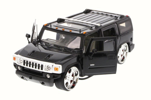 Hummer H2 SUV, Black - Jada 90403 - 1/24 Scale Diecast Model Toy Car