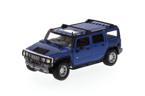 2003 Hummer H2 SUV w/ Sunroof, Blue - Maisto Special Edition 31231 - 1/27 Scale Diecast Model Toy Car