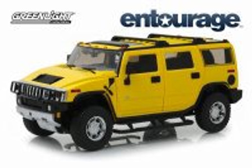 2003 Hummer H2, Entourage - Greenlight HWY18015 - 1/18 scale Diecast Model Toy Car