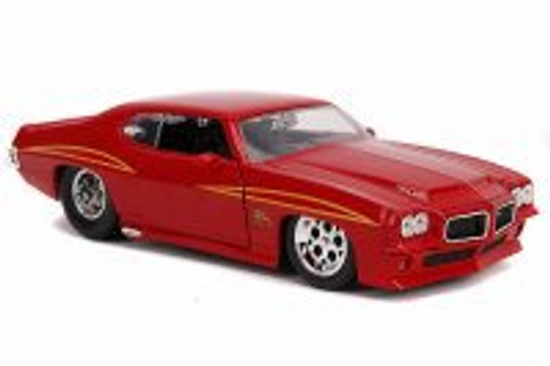 1971 Pontiac GTO, Red - Jada 31645 - 1/24 scale Diecast Model Toy Car