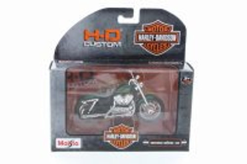 2012 Harley Davidson XL 1200V Seventy-Two, Metallic Green - Maisto 31360-32 - 1/18 Scale Diecast Model Toy Car