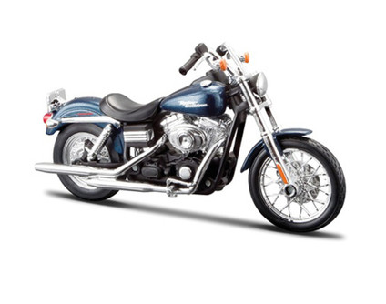 FXDBI Dyna Street Bob Harley-Davidson Motorcycle, Blue - Maisto HD Custom 32325/BIKE - 1/12 Scale Diecast Model Toy Motorcycle