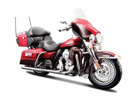 FLHTK Electra Glide Ultra Limited Harley-Davidson Motorcycle, Red - Maisto HD Custom 32323/BIKE - 1/12 Scale Diecast Model Toy Motorcycle