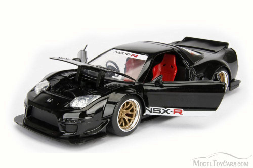 2002 Honda NSX Type-R Japan Spec Wide Body, Black - Jada 98555DP1 - 1/24 Scale Diecast Model Toy Car