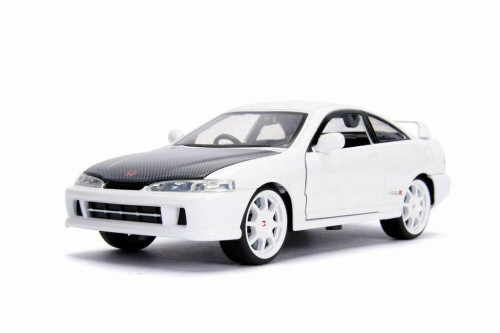 1995 Honda Integra Type-R (Japan Spec), White - Jada 30931 - 1/24 scale Diecast Model Toy Car