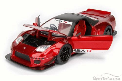 2002 Honda NSX Type-R Japan Spec Wide Body, Metallic Red - Jada 98555DP1 - 1/24 Scale Diecast Model Toy Car