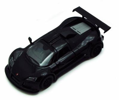 2010 Gumpert Apollo Sport, Black - Kinsmart 5356D - 1/36 scale Diecast Model Toy Car (Brand New, but NOT IN BOX)