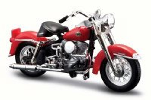 1958 Harley-Davidson FLH Duo Glide, Candy Apple Red - Maisto 31360-33 - 1/18 Scale Diecast Motorcycle