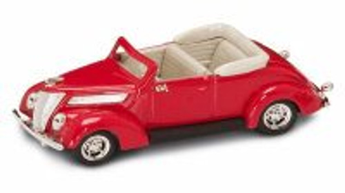 1937 Ford V8 Convertible, Red - Yatming 94230 - 1/43 Scale Diecast Model Toy Car