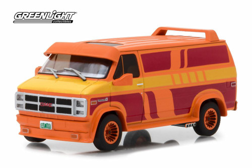 1983 GMC Vandura Custom, Orange - Greenlight 86327 - 1/43 Scale Diecast Model Toy Car
