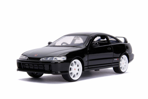 1995 Honda Integra Type-R (Japan Spec), Glossy Black - Jada 30930 - 1/24 scale Diecast Model Toy Car