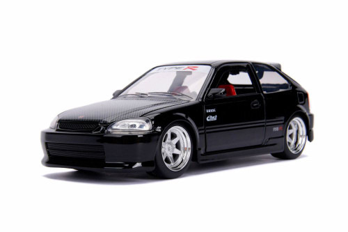 1997 Honda Civic Type R, Black - Jada 99772DP1 - 1/24 scale Diecast Model Toy Car