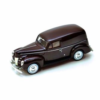 1940 Ford Sedan Delivery, Burgundy - Motormax 73250 - 1/24 Scale Diecast Model Car