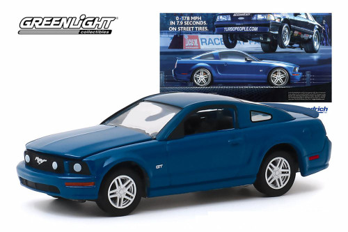 2009 Ford Mustang GT, '0-178 MPH In 7.9 Seconds. On Street Tires' BFGoodrich Vintage Ad Car - Greenlight 30139/48 - 1/64 scale Diecast Model Toy Car