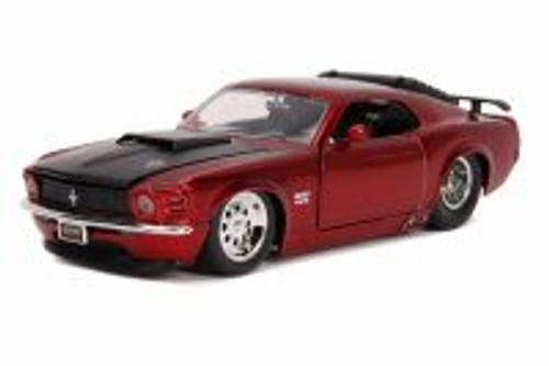 1970 Ford Mustang Boss 429 Hard Top, Red - Jada 31649DP1 - 1/24 scale Diecast Model Toy Car