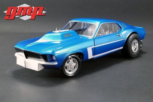 1969 Ford Mustang Gasser - The Boss Hardtop, Blue - GMP 18913 - 1/18 scale Diecast Model Toy Car