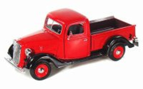 1937 Ford Pick-up Truck, Red - Showcasts 73233 - 1/24 Scale Diecast Model Toy Car