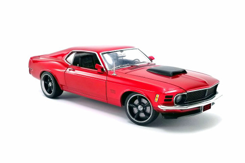 1970 Ford Boss 429 Mustang Street Fighter Hardtop, Red - Acme A1801836 - 1/18 scale Diecast Model Toy Car